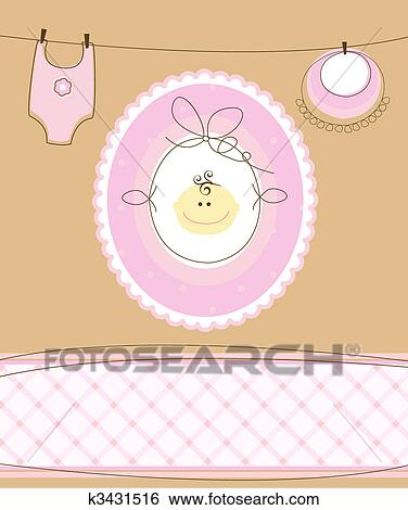 clip art of vector baby girl k3431516 search clipart illustration