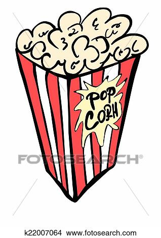 drawings of doodle paper bag full of popcorn k22007064 search clip rh fotosearch com popcorn bag clipart black and white clip art popcorn bag