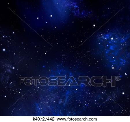 Estrelado Ceu Noite Desenho K40727442 Fotosearch