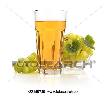 Glass of white grape juice