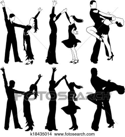 ラテン語 ダンス 社交ダンス クリップアート切り張りイラスト