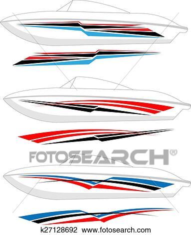 Boat Graphics, Stripe: Vinyl Ready Clipart