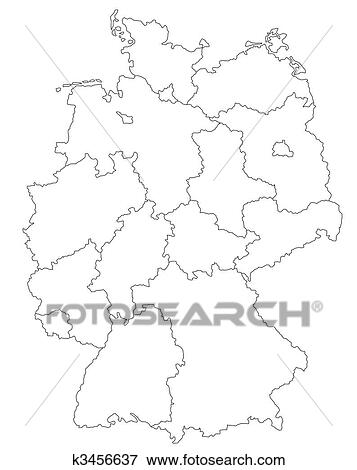 Deutschlandkarte Stock Illustration K3456637 Fotosearch