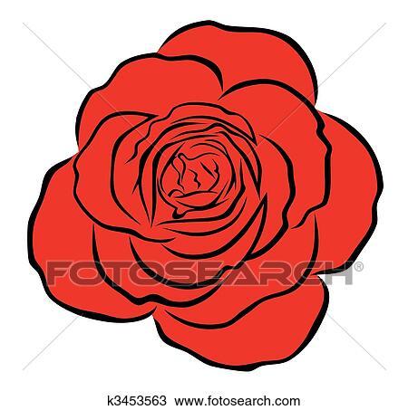 Clipart Rose Rouge K3453563 Recherchez Des Clip Arts Des