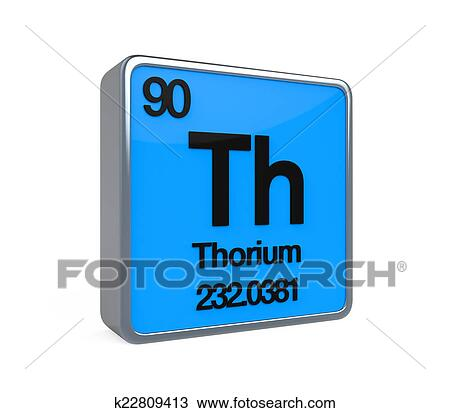 Drawing Of Thorium Element Periodic Table K22809413 Search Clipart