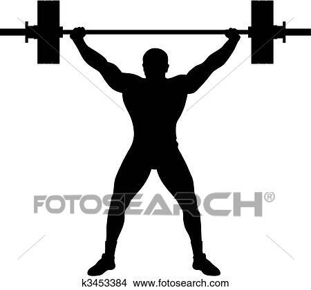 Weight Lifter Athlete Clipart K3453384