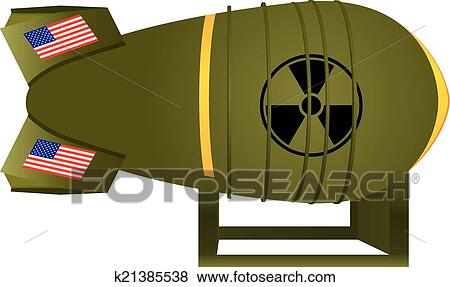 clip art of aviation atomic bomb us k21385538 search clipart rh fotosearch com Exploding Bomb Clip Art Manhattan Project Atomic Bomb