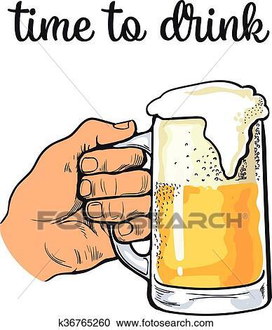 Boccale Vetro Di Birra Con Schiuma Clipart K36765260