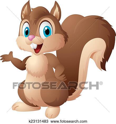 Cartone animato scoiattolo clipart k23131483 fotosearch