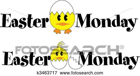 clip art of easter monday k3463717 search clipart illustration rh fotosearch com happy monday clipart free happy monday clip art free