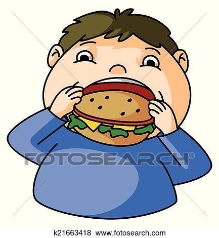 clip art of fat boy eat burger k21663418 search clipart rh fotosearch com fat clipart dog fat clipart chicken