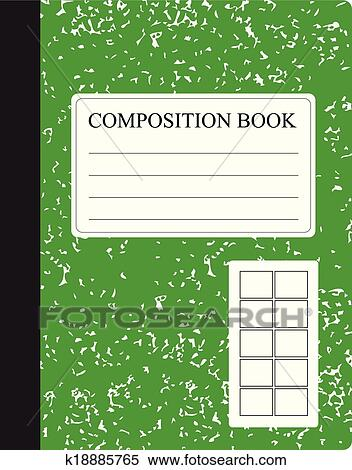 Clipart   Green Composition Book. Fotosearch   Search Clip Art,  Illustration Murals, Drawings
