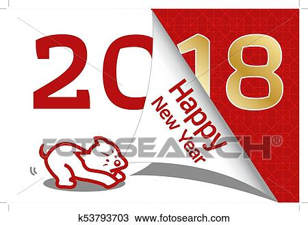 2018 year of dog greeting card template cute cartoon dog with chinese new year chinese new year all in a single layer vector illustration