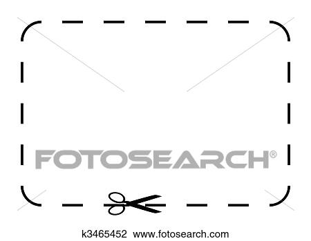 Clip Art Of Blank Coupon Or Voucher K3465452 - Search Clipart