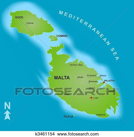 Cartina Di Malta Da Stampare.Mappa Di Malta Archivio Illustrazioni K3461154 Fotosearch