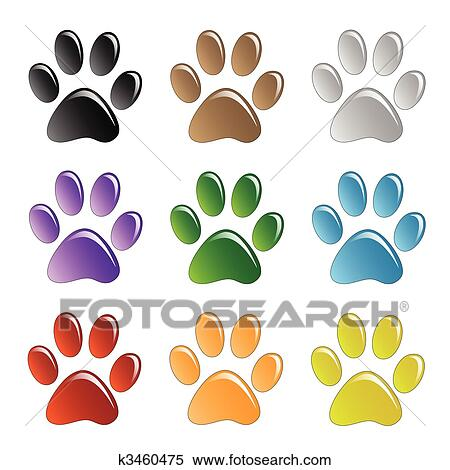 Gorilla Clipart Paw Print - Dog Paw Transparent Background - Png Download  (#3443216) - PinClipart