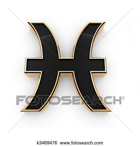 Stock Illustration Of Pisces Zodiac Symbol Icon K3469476