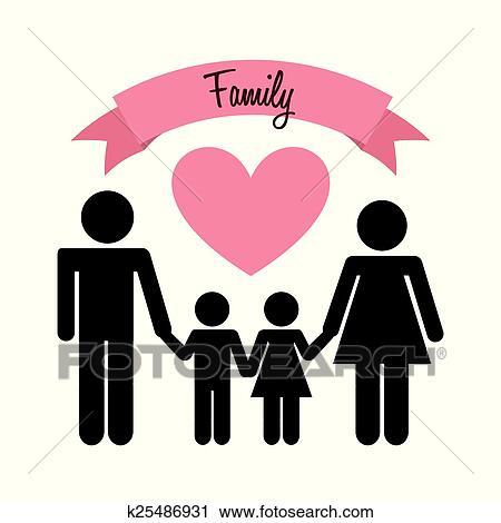 Clipart Famille clipart - amour famille k25486931 - recherchez des clip arts, des