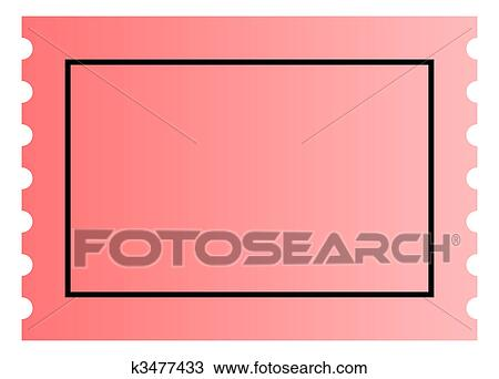 drawing of blank ticket template k3477433 search clipart