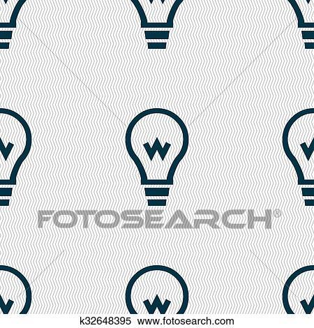 Stock Illustration - glühbirne, symbol, zeichen., seamless, muster ...