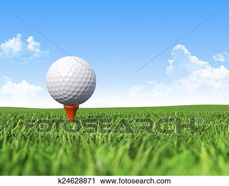 Golf Ball On Tee In Grass Clip Art K24628871 Fotosearch