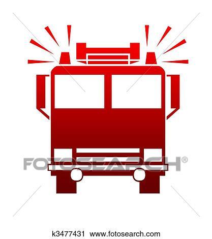 Klipart Itfaiye Arabasi Kamyon K3477431 Clipart Duvar