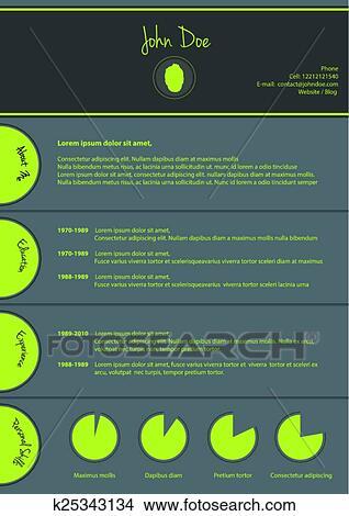 clipart of modern cv template special resume design k25343134