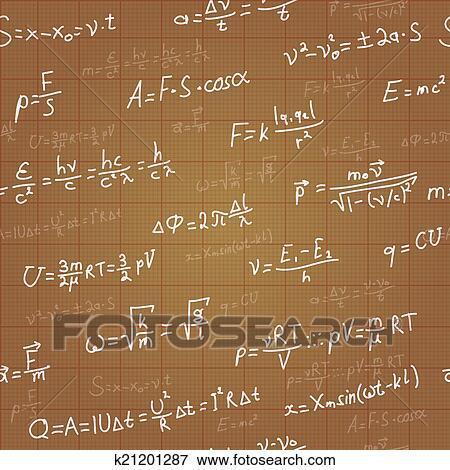 Clip art of physics formulas vector seamless pattern on brown clip art physics formulas vector seamless pattern on brown blueprint vector fotosearch malvernweather Choice Image