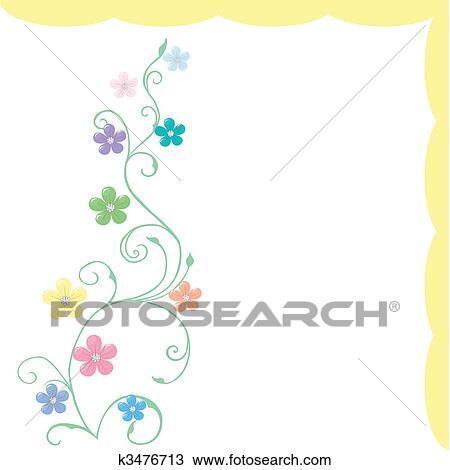 Primavera Cartao Cumprimento Com Delicado Flores Em Pastel