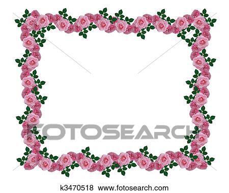 stock illustration rosafarbene rosen girlande umrandungen k3470518 suche clip art. Black Bedroom Furniture Sets. Home Design Ideas