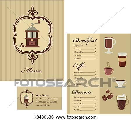 Clipart Of Coffee Menu Template