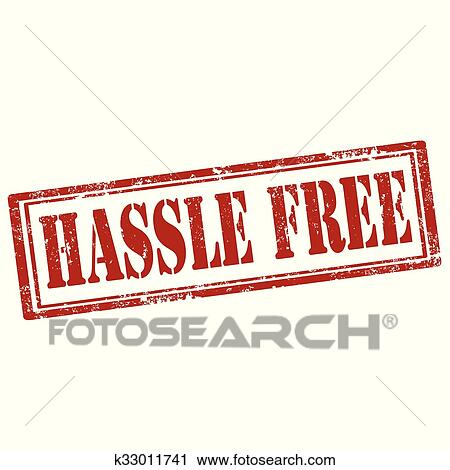 clipart of hassle free stamp k33011741 search clip art rh fotosearch com
