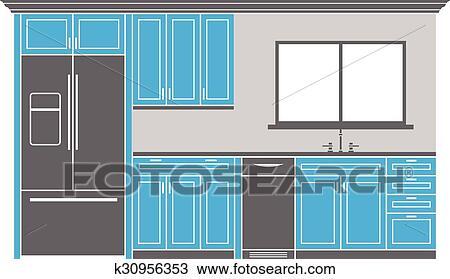 Schranke kuche fototapete moderne kche interieur mit for Suche eine gunstige kuche