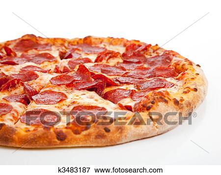 Lovely Pizza Sfondo Bianco Sfondo