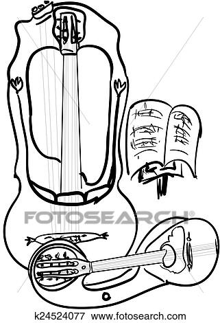 Old guitars Stock Illustration | k24524077 | Fotosearch