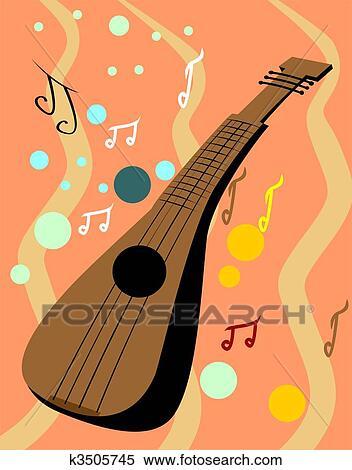 マンドリン で 音楽メモ イラスト K3505745 Fotosearch