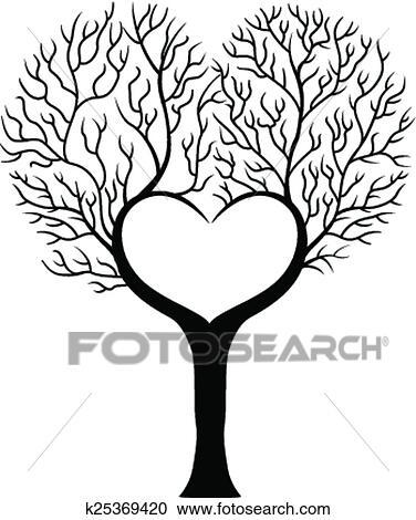 clipart branche arbre dessin anim dans forme de hea k25369420 recherchez des clip arts. Black Bedroom Furniture Sets. Home Design Ideas