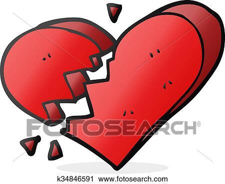 Caricatura Corazón Roto Clipart K34846591 Fotosearch