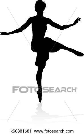 Dancing Ballet Dancer Silhouette Clipart K60881581 Fotosearch