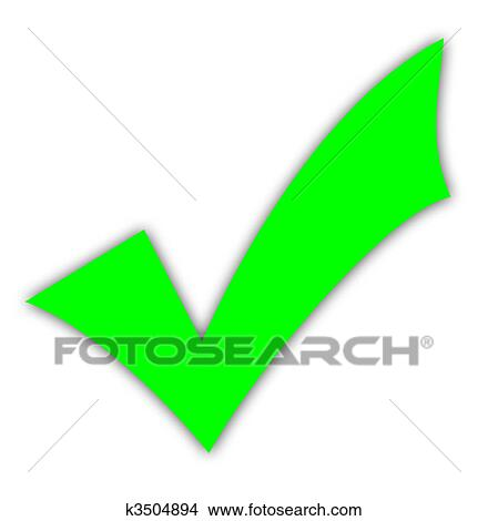 Drawings Of Green Tick Or Check Mark K3504894 Search Clip Art