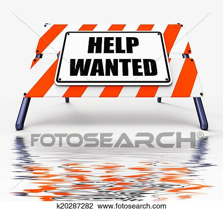 clip art of help wanted sign displays employment and wanting rh fotosearch com help wanted clipart free