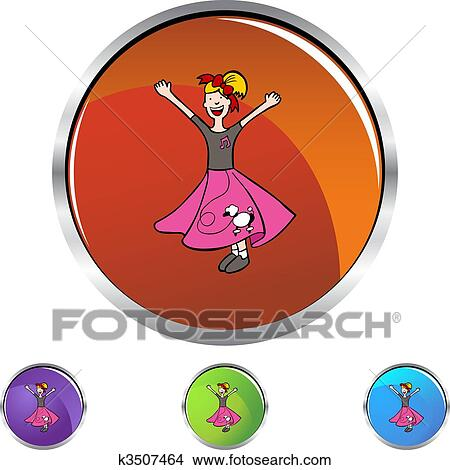 Clipart Of Poodle Skirt K3507464 Search Clip Art Illustration