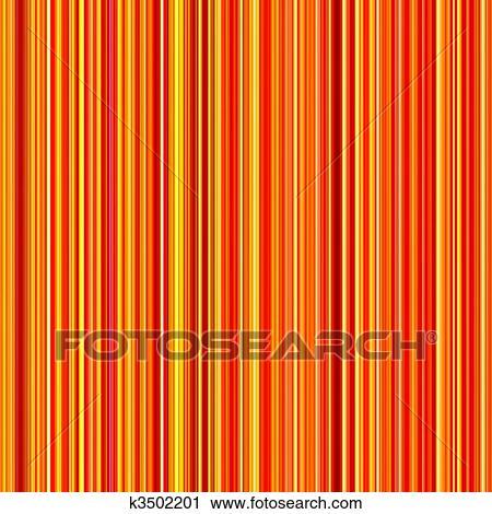 Seamless, clair, orange, et, jaune, couleurs, lignes verticales ...
