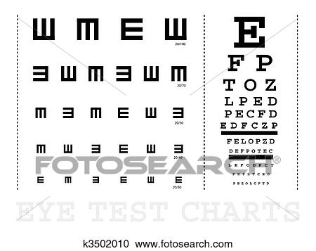 Stock Illustrations Of Snellen Eye Test Charts K3502010 Search