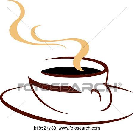 湯気をたてる 暑い カップ の 芳香がする コーヒー クリップアート