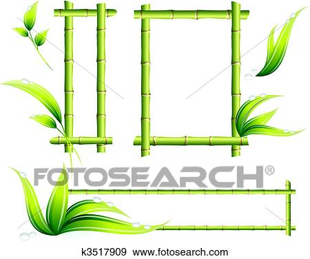 clip art of bamboo frames k3517909 search clipart illustration rh fotosearch com bamboo clipart transparent bamboo clipart black and white
