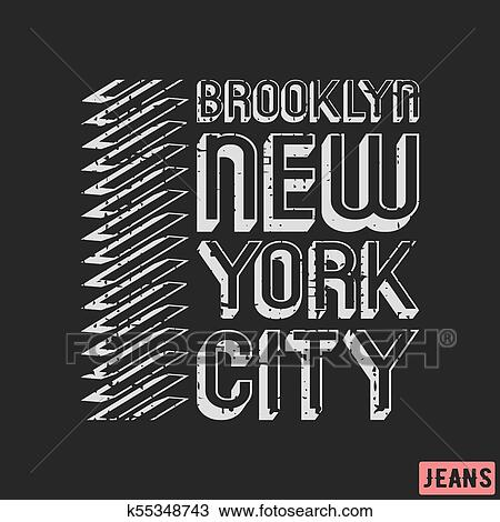 74339f22 Brooklyn New York City t-shirt print design. Grunge vintage t shirt stamp.  Printing and badge applique label t-shirts, jeans, casual wear.
