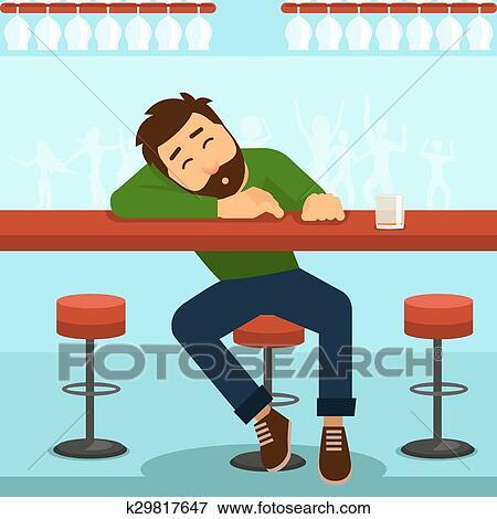 Clip Art Of Drunk Man Vector Illustration K29817647 Search Clipart