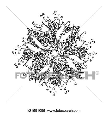Banque D Illustrations Fantasme Fleur Noir Blanc Tatouage