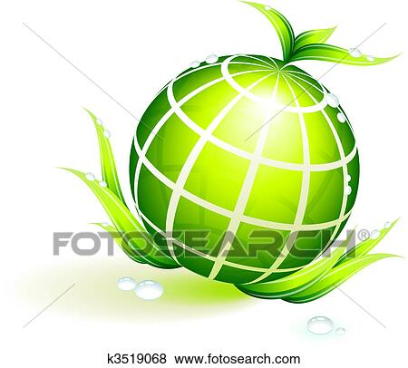 clip art of globe green environmental conservation background rh fotosearch com Tractor Clip Art Cake Clip Art